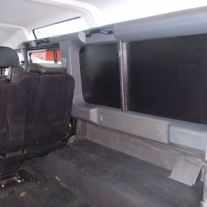 Black PVC side panel soundproofing