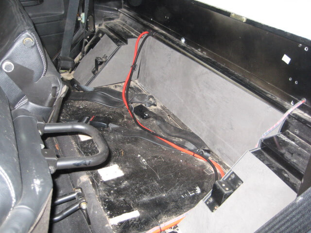 Land Rover Double Cab Rear seat area