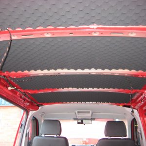 VW T5 or VW T6 roof soundproofing section