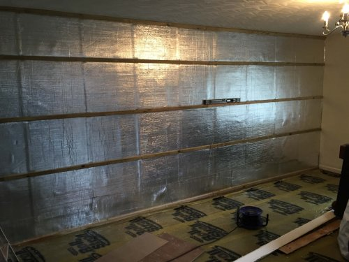 full wall with battens
