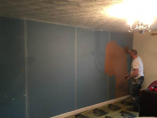 plastering stage