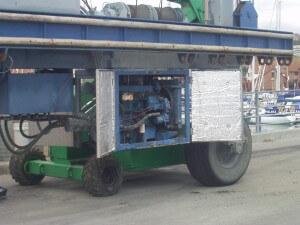 port solent noisy crane generator housing
