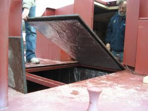 narrow boat hatch