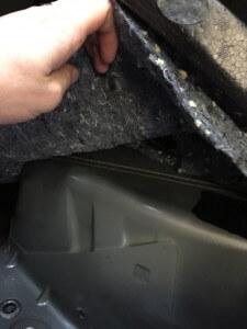 VW Amarok under rear seat