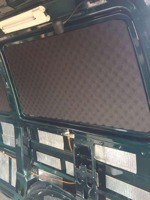 VW T4 Van Egg Box on upper side panels