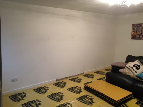 wall read for install with carpet protector down