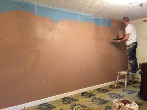 full wall plastered