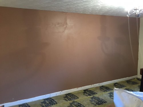 finished skimmed wall