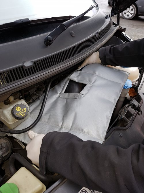 VW Transporter Engine Bay Soundproofing