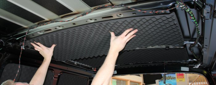 VW T5 roof in egg box