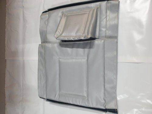 Acoustic generator box blanket folded away